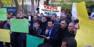 Viranşehir'de kaçak elektrik kesintileri protesto edildi