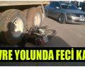 Motosiklet Sürücüsü Kamyon Tekerleklerinin Arasına Sıkıştı