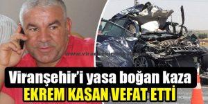 Viranşehir'i yasa boğan kaza