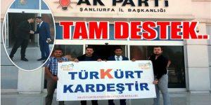 """"""" Türk Kürt kardeştir """" Projesine destek"""
