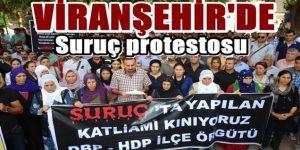 Viranşehir'de Suruç olayı protesto edildi
