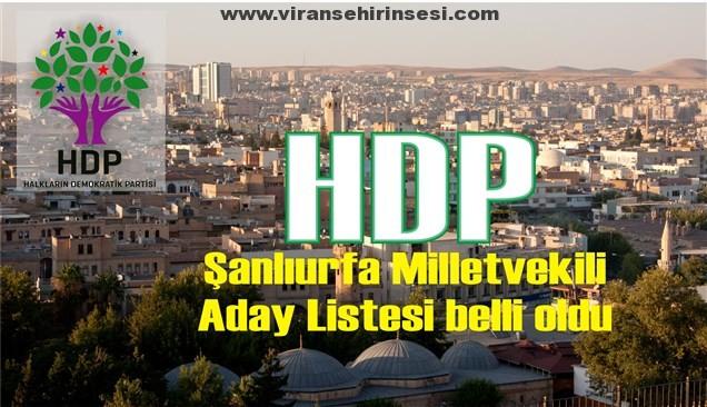 HDP Şanlıurfa Aday Listesi