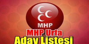 MHP Urfa Aday Listesi belli oldu