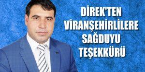 Ak Parti Şanlıurfa Milletvekili Aday Adayı İbrahim Direk Viranşehir Halkına Teşekkür Etti