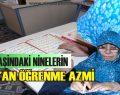 70 Yaşındaki Ninelerden Kur'an Öğrenme azmi