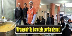 Viranşehir'de ücretsiz çorba hizmeti