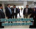 2015 yılında 62 Milyon TL, Eyyübiyelilere aktarıldı