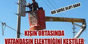 DEDAŞ yine vatandaşın elektriğini kesti