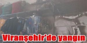 Viranşehir'de yangın