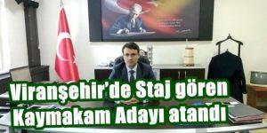 Viranşehir'de Staj gören Kaymakam Adayı atandı