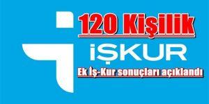 120 Kişilik ek İş-Kur sonuçları açıklandı