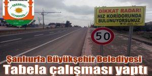 Viranşehir'de Tabela Çalışması tamamlandı