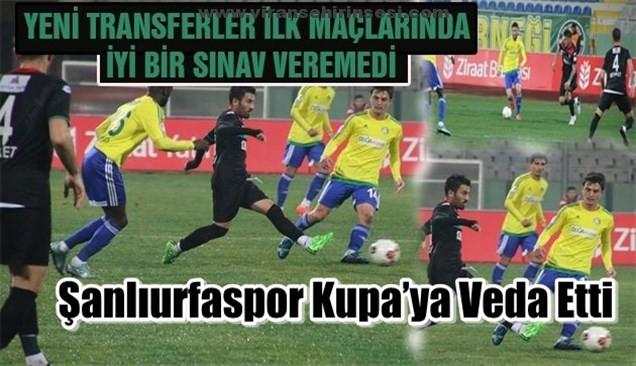 Şanlıurfaspor Kupa'ya Veda Etti