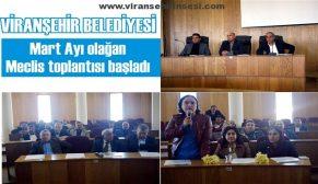Viranşehir Belediyesi Mart 2016 Meclis Toplantısı başladı
