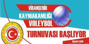 Viranşehir Kaymakamlığı Voleybol Turnuvası Düzenliyor
