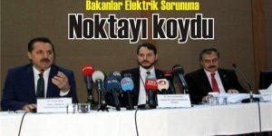 Bakanlar Elektrik Sorununa Noktayı koydu