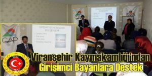 Viranşehir'li Girişimci Bayanlara Destek