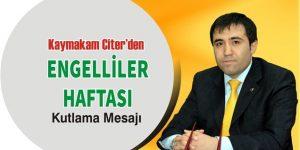 """"""" Engelliler Haftası Kutlu Olsun """""""