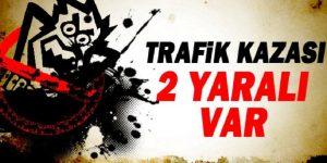 DEMİRCİ YOLUNDA KAZA !!! 2 YARALI