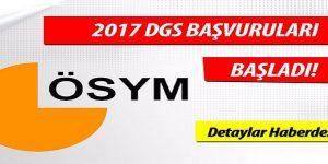 2017 DGS başvuruları başladı