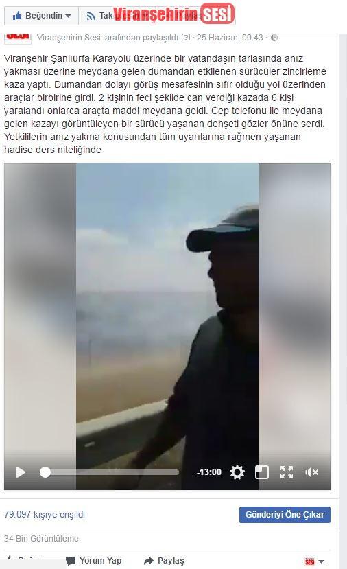 Anız Yangını Sonucu Ölen 2 Vatandaş İle İlgili Videoya Sosyal Medyadan Büyük Tepki