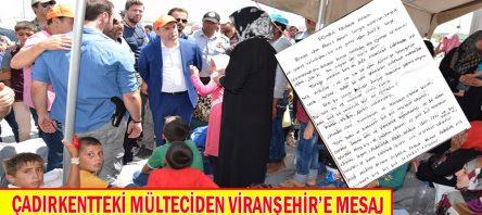 Çadırkentteki Mülteciden Viranşehir'e Mesaj