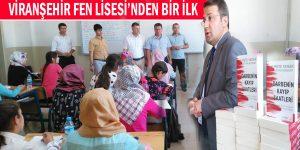 Viranşehir Fen Lisesi'nden Bir İlk