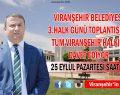 VİRANŞEHİR BELEDİYESİNDEN 3. HALK GÜNÜ TOPLANTISINA DAVET