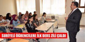 Suriyeli Öğrencilere Viranşehir'de İlk Ders Zili Çaldı