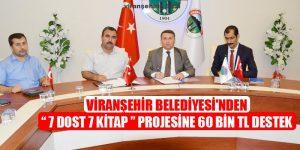 Viranşehir Belediyesi'nden  7 Dost 7 Kitap Projesine 60 Bin TL Destek