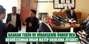 Başkan Tekin Ve Viranşehir ÖNDER'den Bediüzzaman İmam Hatip Ortaokuluna Ziyaret