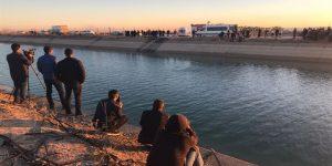 Şanlıurfa'da Mardin yolu üzerinde araç kanala uçtu!