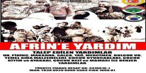 Viranşehir'de Afrin İçin Yardım Kampanyası Başlatıldı