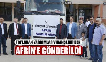 Toplanan Yardımlar Viranşehir'den Afrin'e Gönderildi