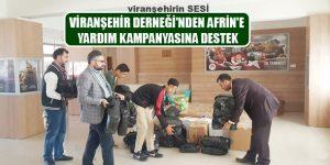 Viranşehir Derneği'nden Afrin'e Yardım Kampanyasına Destek