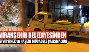 Viranşehir Belediyesinden Sivrisinek ve Haşere Mücadele Çalışmaları