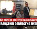 Ak Parti Şanlıurfa Milletvekili Aday Adayı Dr. Öğr. Üyesi Halil Özşavlı'dan Viranşehir Derneği'ne Ziyaret