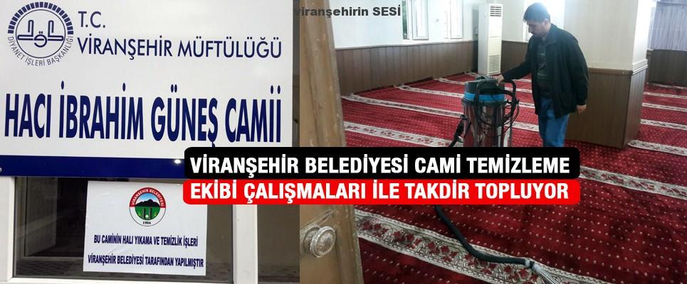 Viranşehir Belediyesi Cami Temizleme Ekibi Çalışmaları İle Takdir Topluyor