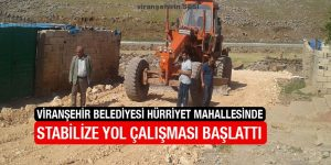 Viranşehir Belediyesi Hürriyet Mahallesinde Stabilize Yol Çalışması Başlattı