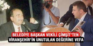 Belediye Başkan Vekili Çimşit'ten Viranşehirli Yazar M. Siraç Suman'a Vefa
