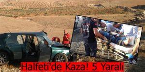 Halfeti'de Kaza! 5 Yaralı