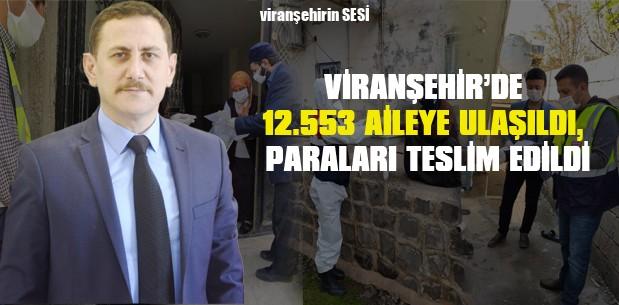 Viranşehir'de 12.553 Aileye Ulaşıldı, Paraları Teslim Edildi