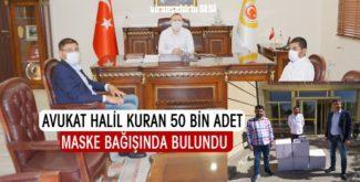 Avukat Halil Kuran 50 Bin Adet Maske Bağışında Bulundu