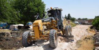 Toklu Mahallesinde Stabilize Yol Çalışması Bitme Aşamasında